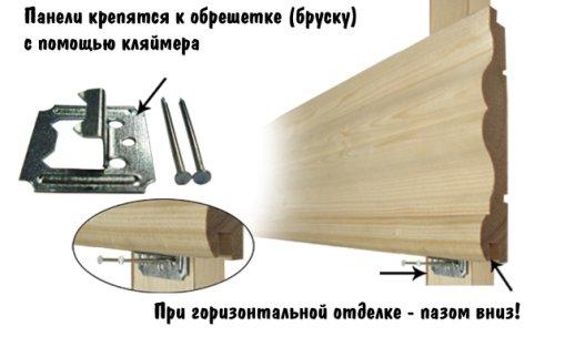 Необходимые материалы для крепления блок хауса к обрешетке