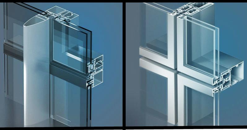Основные виды фасадных систем остекления в разрезе