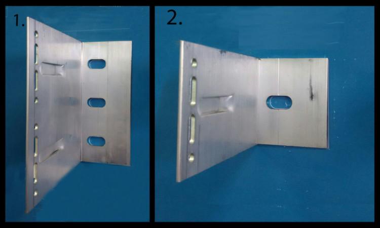 несущий и опорные кронштейны алюминиевой фасадной системы