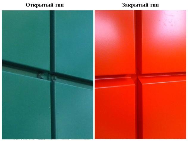 примеры крепления металлокассет