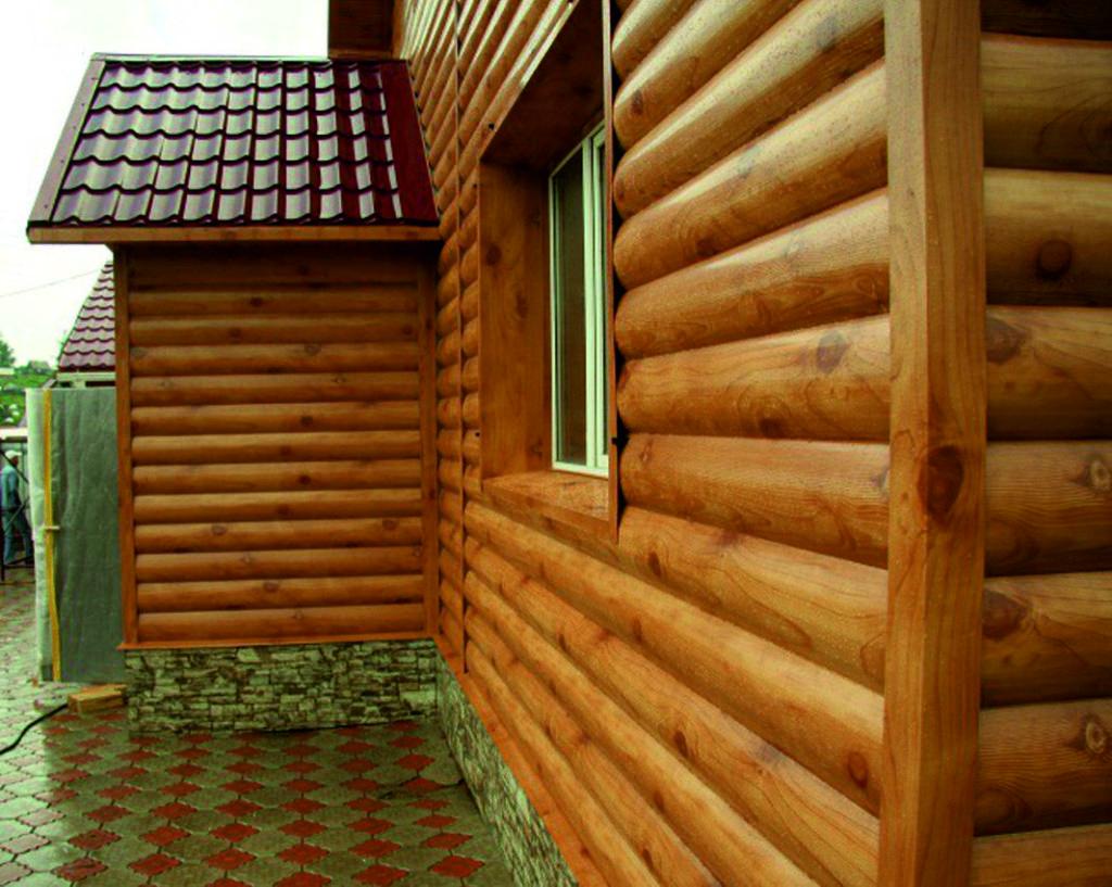 Деревянный блок хаус фото