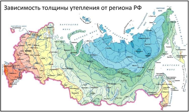 Годовая изотермическая карта