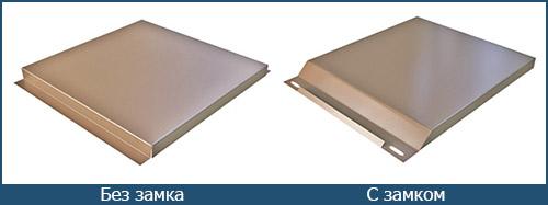 Виды металлокассет с различным способами крепления