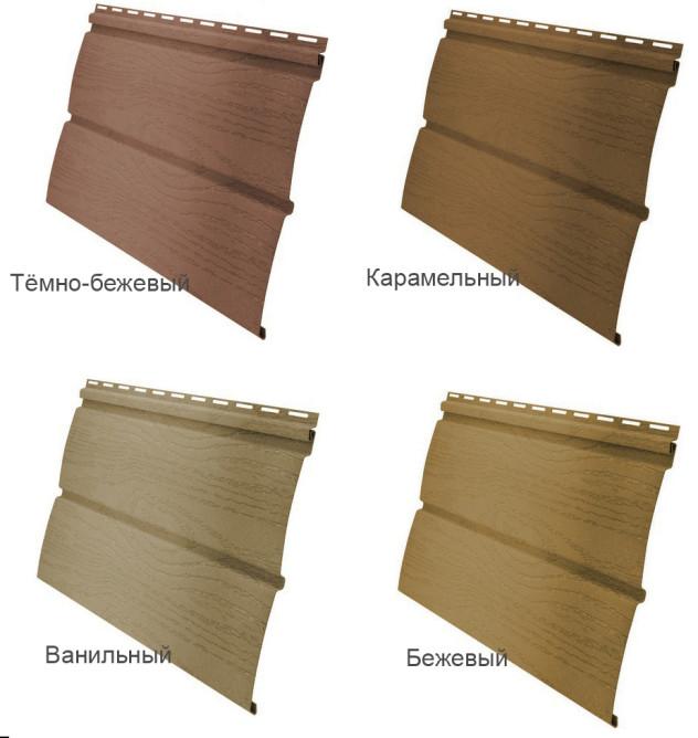 Различные вариации винилового блок хауса
