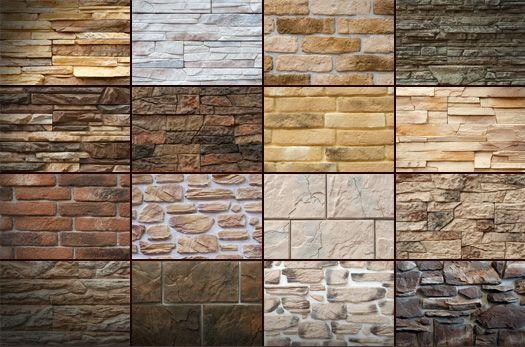 Разнообразие декоративного камня для фасада