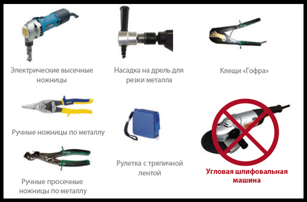 Инструменты используемые при резке блок хауса