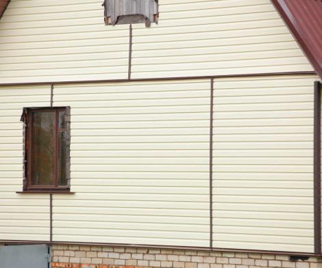 отделка деревянного дома виниловым сайдингом
