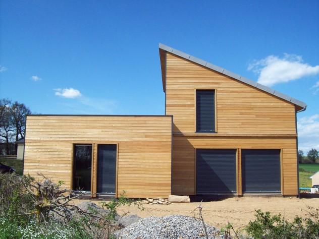 применение планкена на фасаде дома