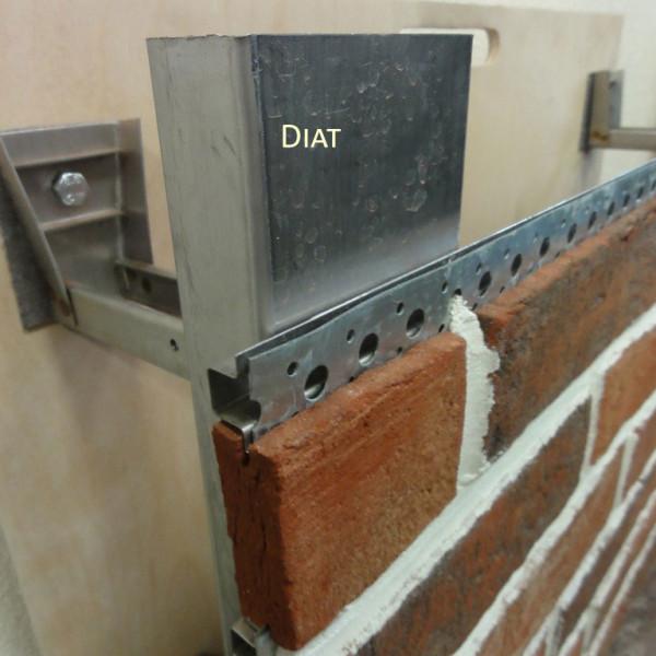 клинкерная плитка на стальной подсистеме