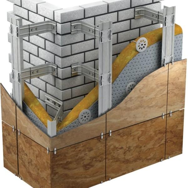 облегченая оцинкованная подсистема вентилируемого фасада