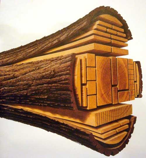 производство имитации бруса из бревна определенного диаметра