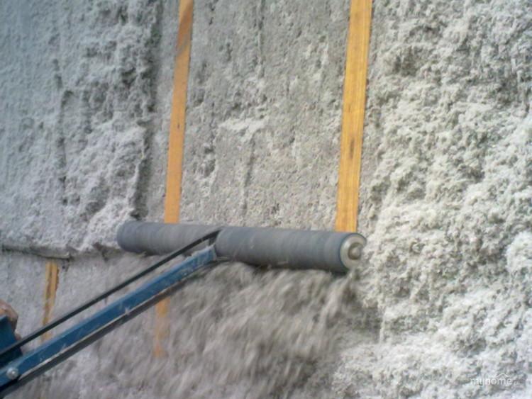 Утепление наружных стен с помощью эковаты