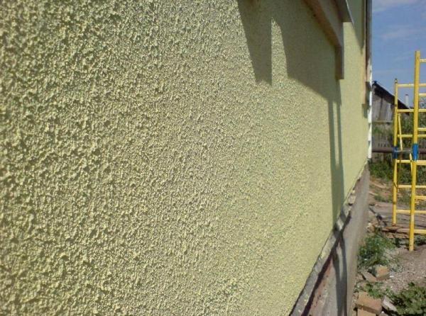 Применение мокрого фасада на стену