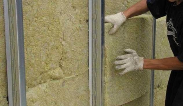 отделка наружных стен утеплителем каменная вата