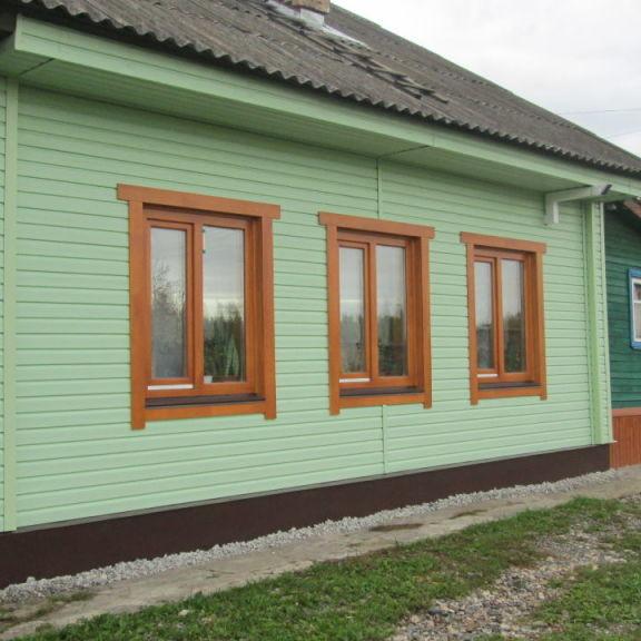 Вентфасад на наружной стене деревянного дома