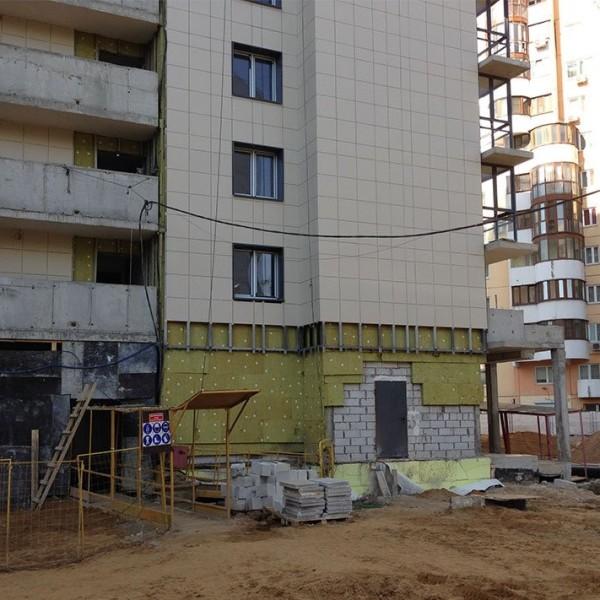 утеплнеие здания при помощи технологии вентфасада