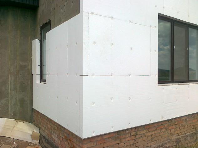 утепление наружных стен пенопластом