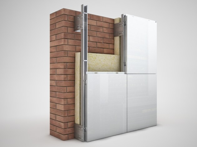 Конструкция системы вентилируемого фасада
