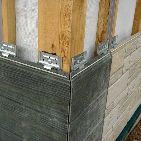 пример отделки стен фиброцементными панелми