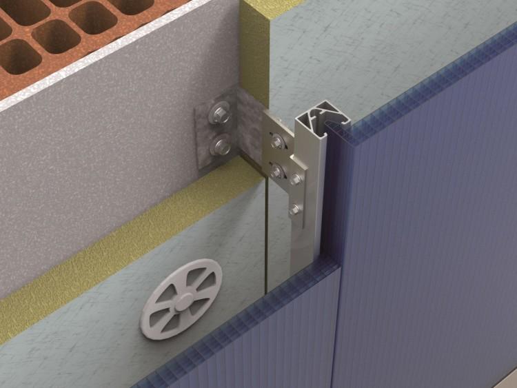 Слои системы вентфасада занимают место в порядке убывания коэффициента теплопроводности