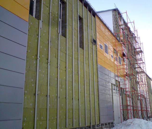 установка обрешетки для отделки фасада
