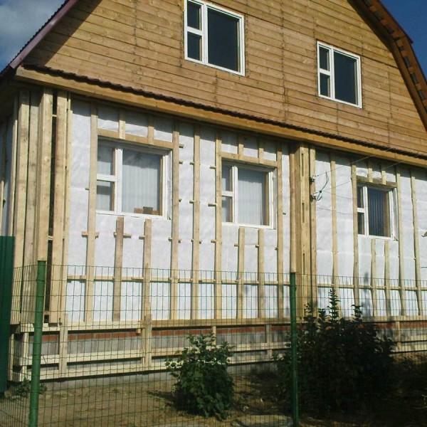 деревянная обрешетка вентилируемого фасада