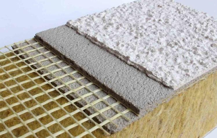 конструкция мокрого фасада по слоям