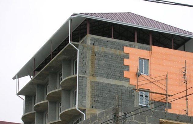 Установка плит пеноплекса на фасад по технологии Ceresit