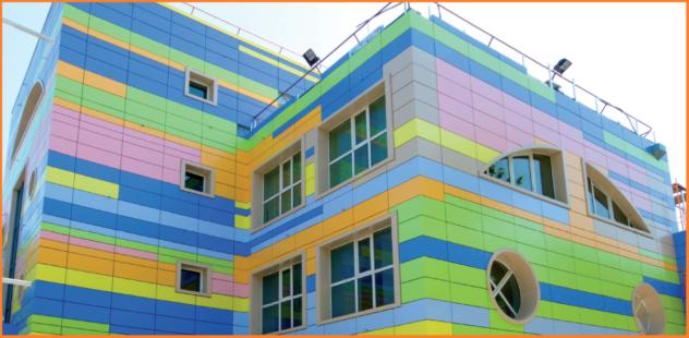 Применение композитных панелей на офисном здании