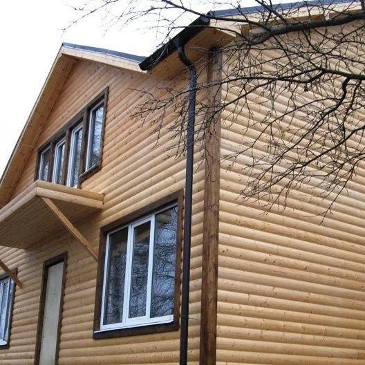 Блок хаус как вариант отделки фасада дачного дома