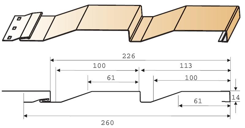 Основные размеры сайдинга в зависимости от материала