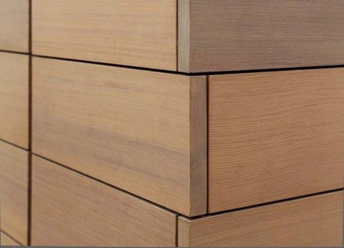 Вариант облицовки старого деревянного термодоской