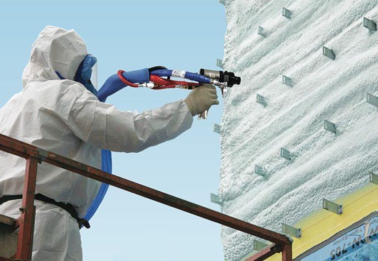 Утепление стены пенополиуретаном для дальнейшего монтажа вентилируемого фасада