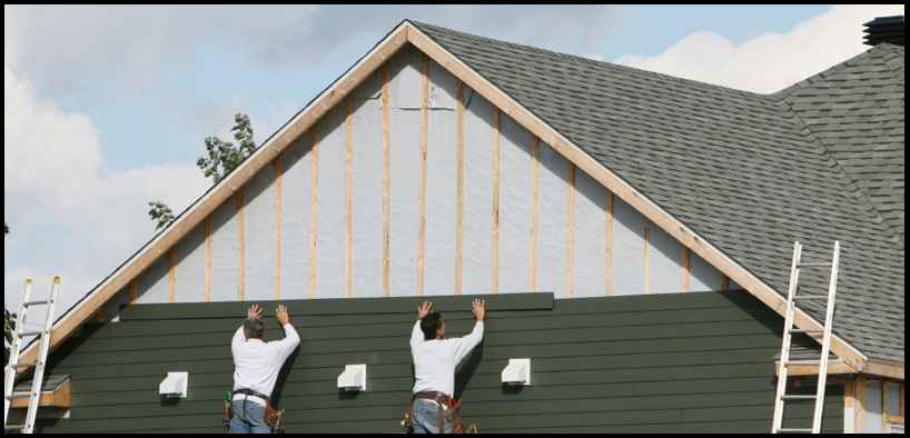 Установка металлического сайдинга на фасад и фронтон дома