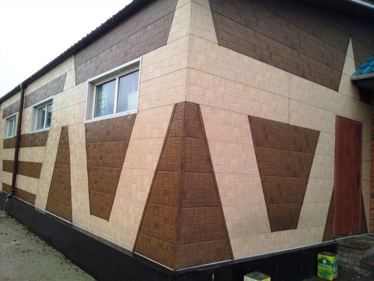 металлические термпоанели на фасаде жилого дома