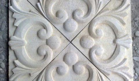 Декоративный элемент облицовки фасада из натурального камня