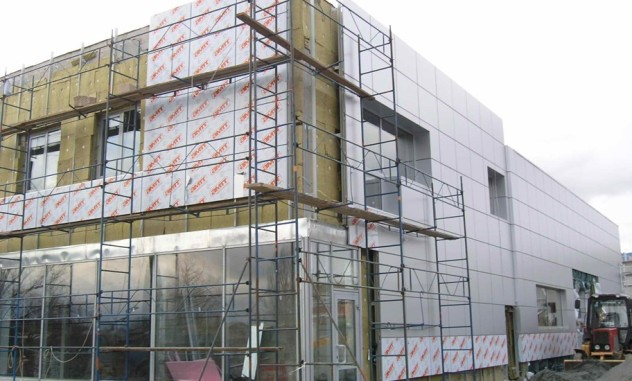 пример внешнего утепления фасада
