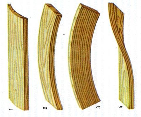 Коробление древесины как следствие воздействия атмосферных воздействий