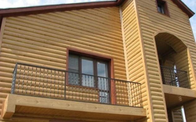 отделка фасада деревянным блок хаусом