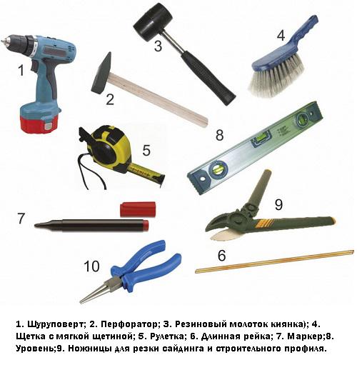 инструменты для монтажа блок хауса из металла