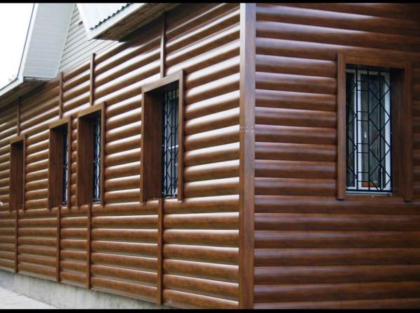 Применение блок хауса на фасаде