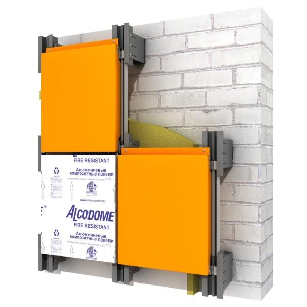 усиленная алюминиевая система вентфасада