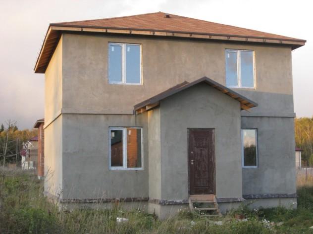 Мокрый фасад на каркасном доме