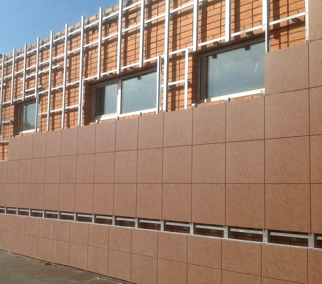 Монтаж вентилируемого фасада керамогранит