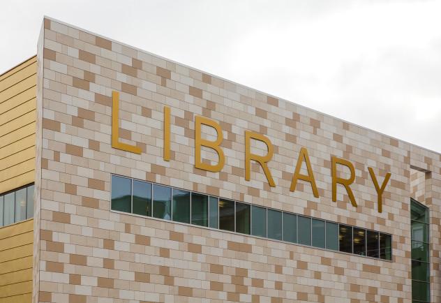 облицовка библиотеки при помощи технологии навесных фасадов