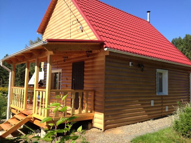 Деревянный блок хаус на сип панели