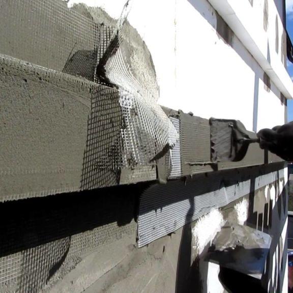 мокрый фасад с применением пенополистирола
