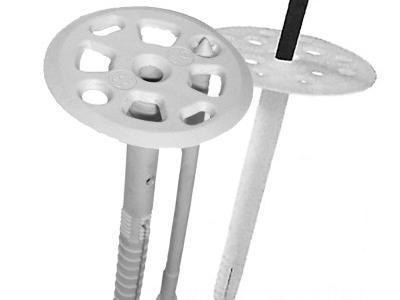 Механическое крепление в виде дюбелей зонтиков