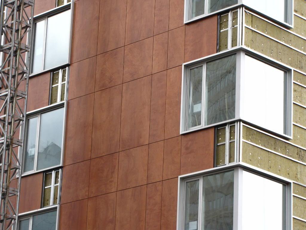 термоизоляция фасада с применением фасадных панелей из фиброцемента