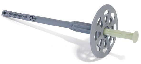 Металлический гвоздь и пластиковое основание - идеальный вариант крепления утеплителя